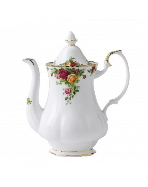 (OUT OF STOCK) ROYAL ALBERT OLD COUNTRY ROSES COFFEE POT SET